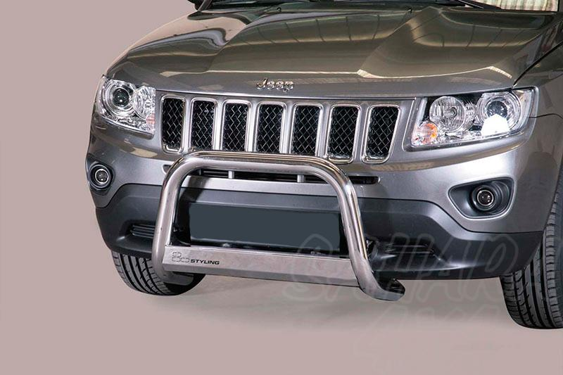 Defensa central inox Ø63mm con grabación. Homologación CE para Jeep Compass 2011- - (imagen no contra actual)