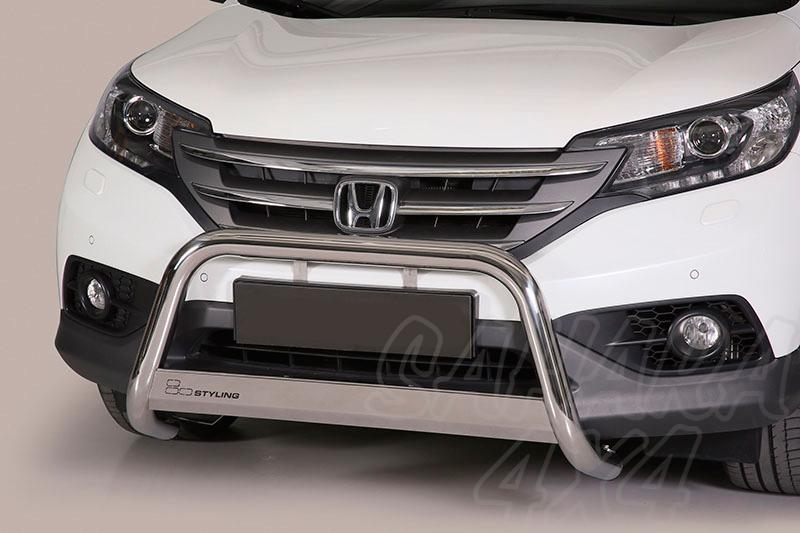 Defensa central inox Ø63mm con grabado para Honda CR-V 2012- -