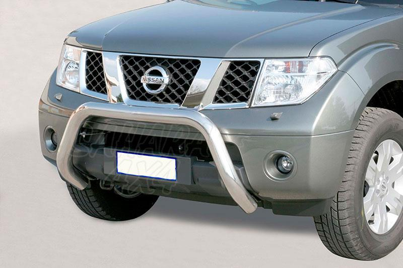 Defensa central inox Ø76mm sin traviesa. Homologación CE para Nissan Pathfinder 2005-2010 -