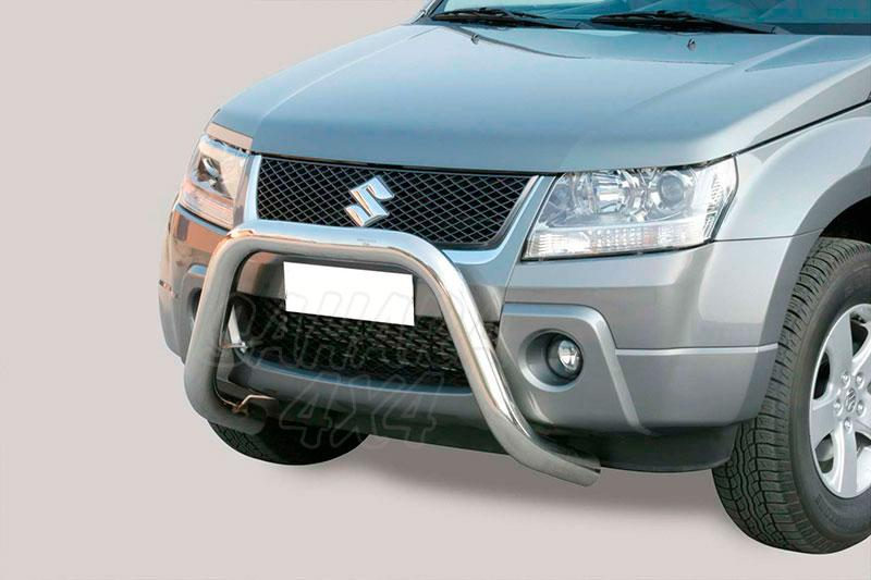 Defensa central inox Ø76mm sin traviesa. Homologación CE para Suzuki Grand Vitara 2005-2008 -