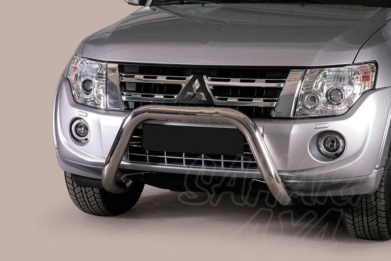 Defensa central inox Ø76mm sin traviesa para Mitsubishi Montero V80 2007-2015 -