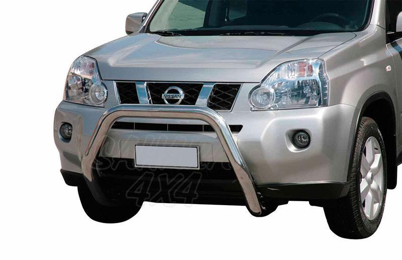 Defensa central inox Ø76mm sin traviesa. Homologación CE para Nissan X-Trail 2007-2010 -