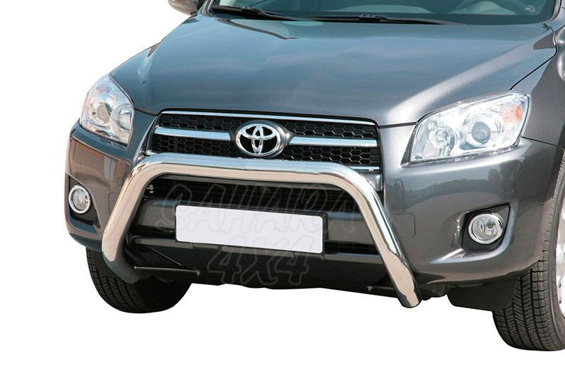 Defensa central inox Ø76mm sin traviesa. Homologación CE para Toyota Rav4 2009-2010 -