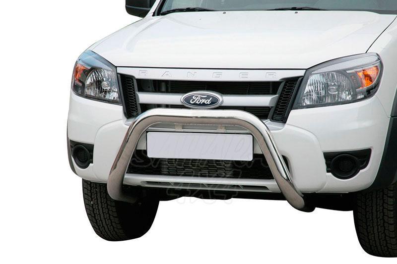 Defensa central inox Ø76mm sin traviesa. Homologación CE para Ford Ranger 2009-2012 -