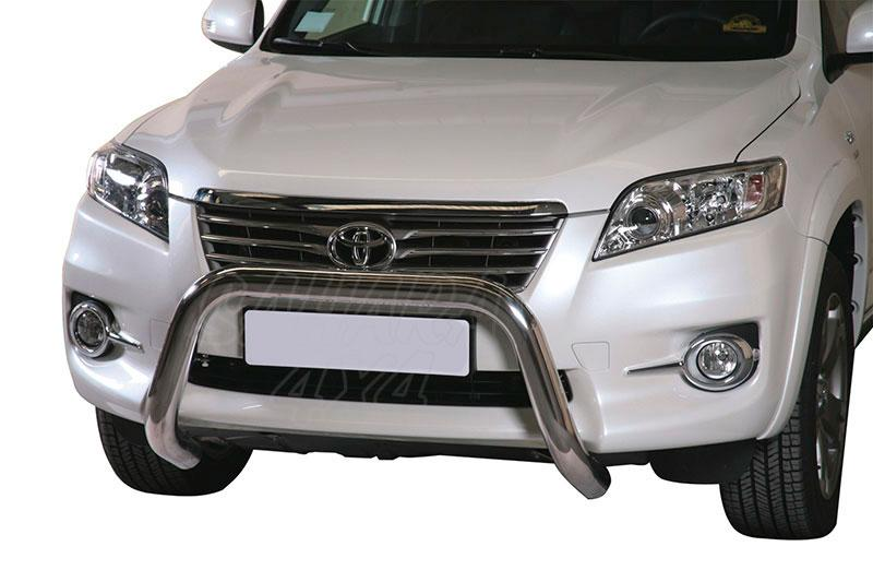 Defensa central inox Ø76mm sin traviesa. Homologación CE para Toyota Rav4 2010-2013 -