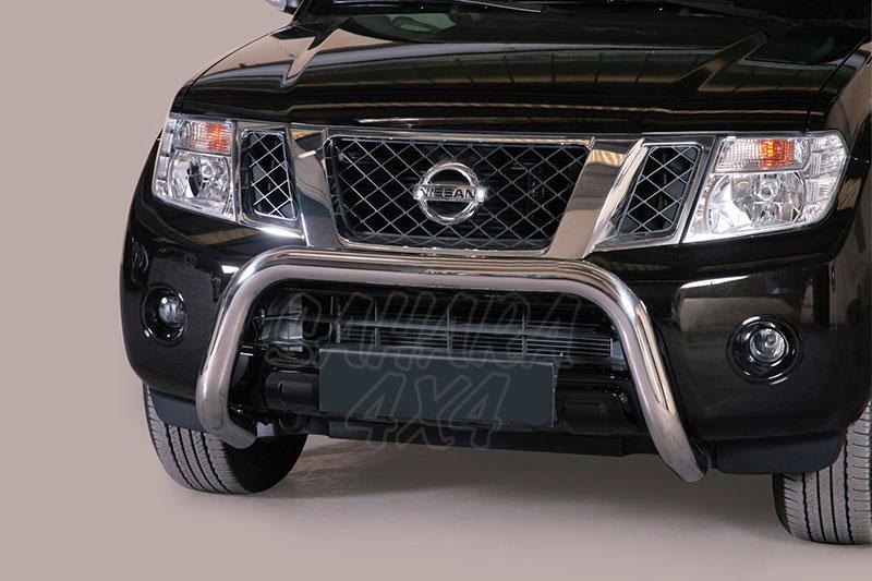 Defensa central inox Ø76mm sin traviesa. Homologación CE para Nissan Pathfinder V6 2010- -