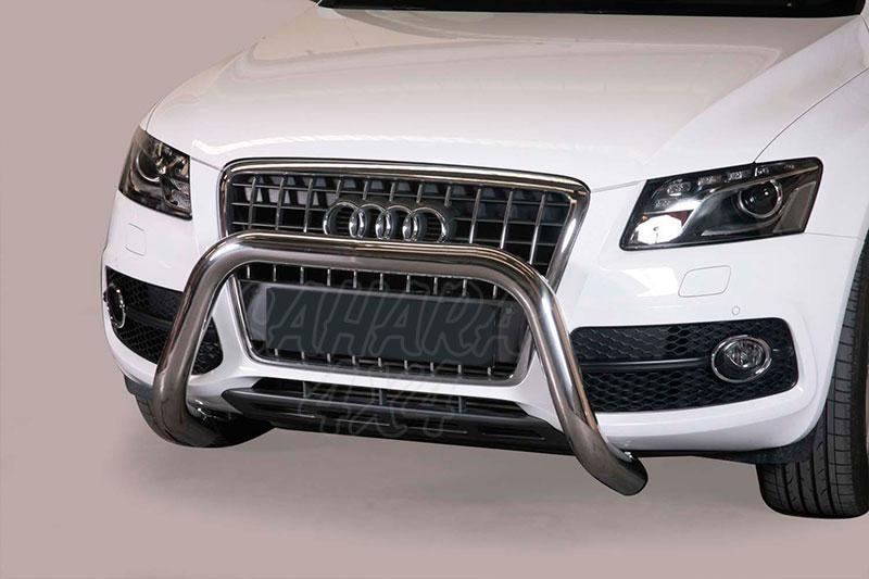 Defensa central inox Ø76mm sin traviesa. Homologación CE para Audi Q5 2008-2014 -