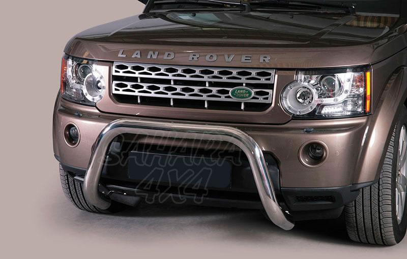 Defensa central inox Ø76mm sin traviesa. Homologación CE para Land Rover Discovery IV  -