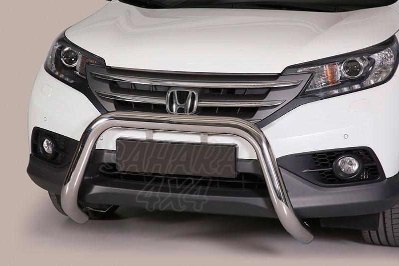 Defensa central inox Ø76mm sin traviesa. Homologación CE para Honda CR-V 2012- -