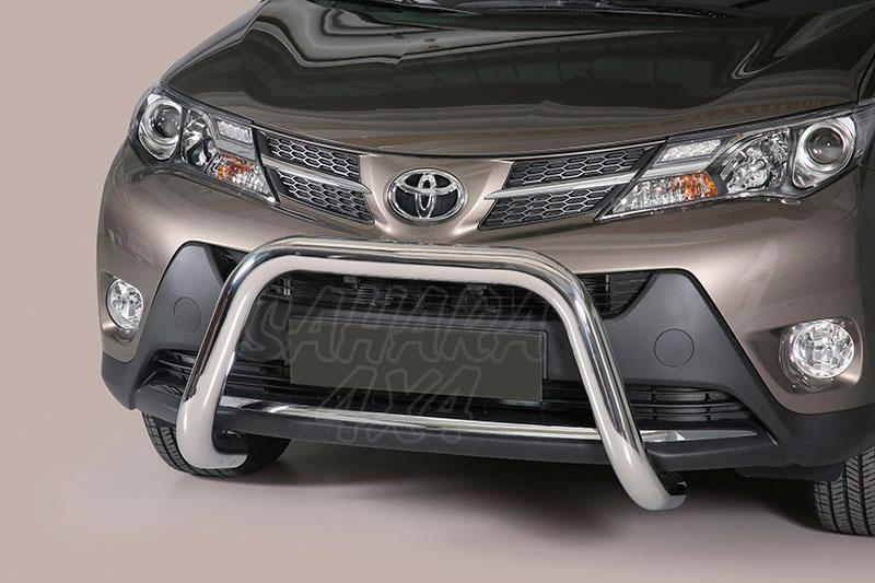 Defensa central inox Ø76mm sin traviesa. Homologación CE para Toyota Rav4 2013-2016 -
