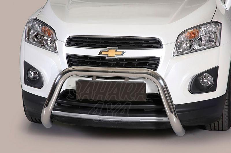 Defensa central inox Ø76mm sin traviesa. Homologación CE para Chevrolet Trax 2013- -