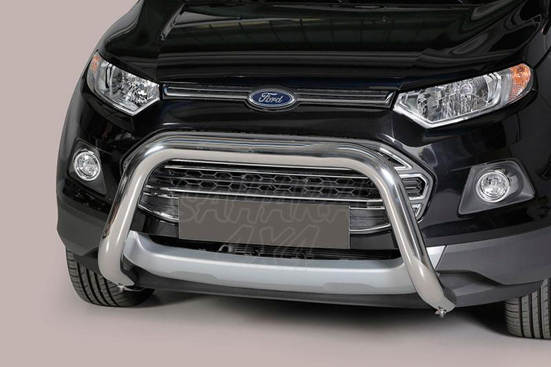 Defensa central inox Ø76mm sin traviesa. Homologación CE para Ford EcoSport 2014- -