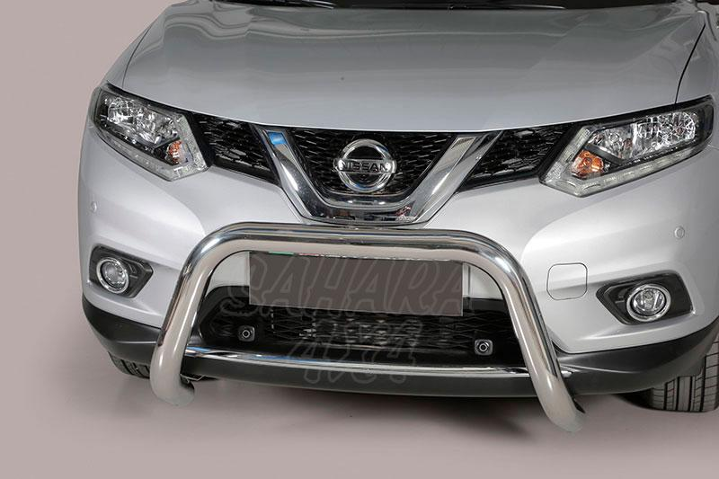 Defensa central inox Ø76mm sin traviesa. Homologación CE para Nissan X-Trail 2014- -