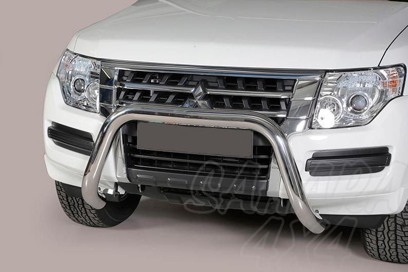 Defensa central inox Ø76mm sin traviesa para Mitsubishi Montero V80 2015- -
