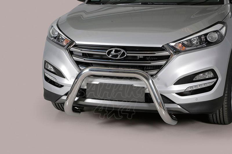 Defensa central inox Ø76mm sin traviesa. Homologación CE para Hyundai Tucson 2015- -