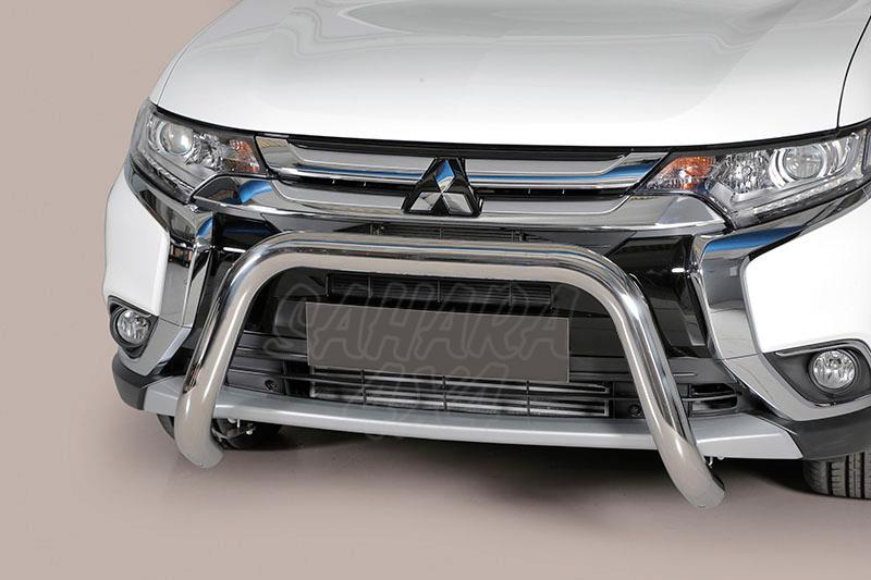 Defensa central inox Ø76mm sin traviesa. Homologación CE para Mitsubishi Outlander 2015- -