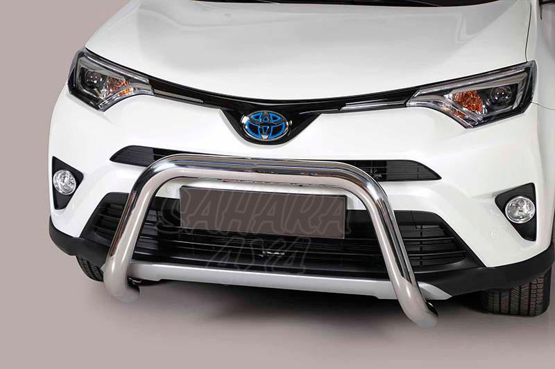 Defensa central inox Ø76mm sin traviesa. Homologación CE para Toyota Rav4 2016- - Compatible Rav4 Hybrid