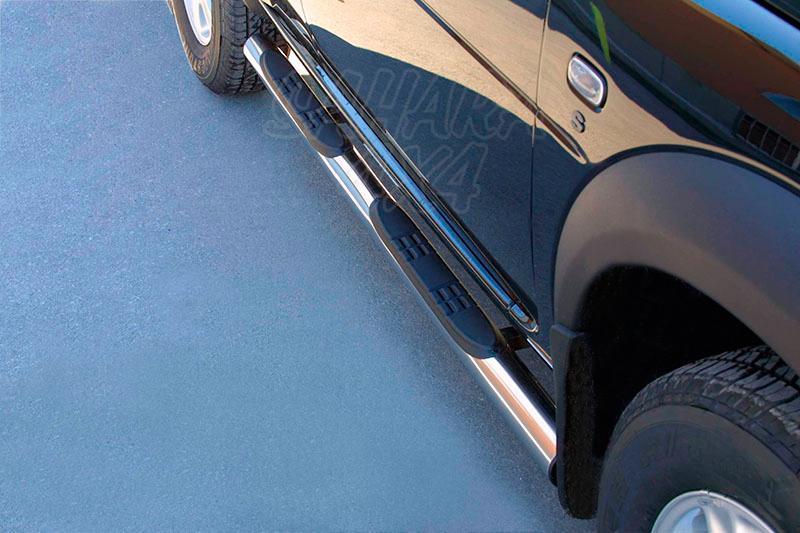 Estribos en tubo inox Ø76mm, con pisantes para Land Rover Freelander I (5P) 2004-2006 -