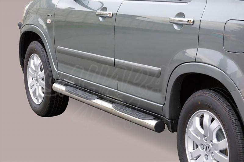 Estribos en tubo inox Ø76mm, con pisantes para Honda CR-V 2005-2007 -