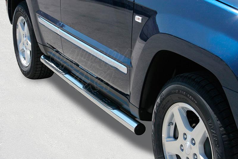 Estribos en tubo inox Ø76mm, con pisantes para Jeep Gran Cherokee WH/WK 2005-2010