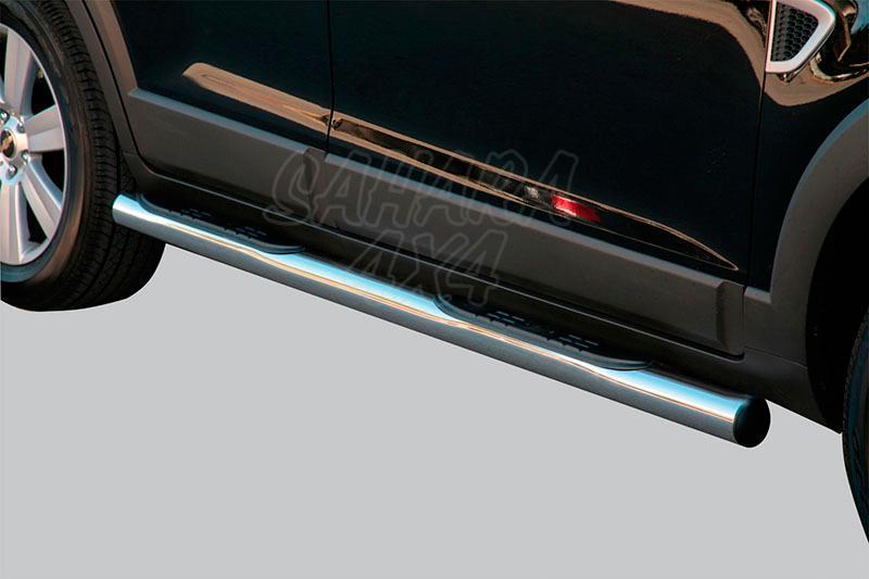 Pareja de estribos en tubo inox Ø76mm, con pisantes para Chevrolet Captiva 2006-2010 -
