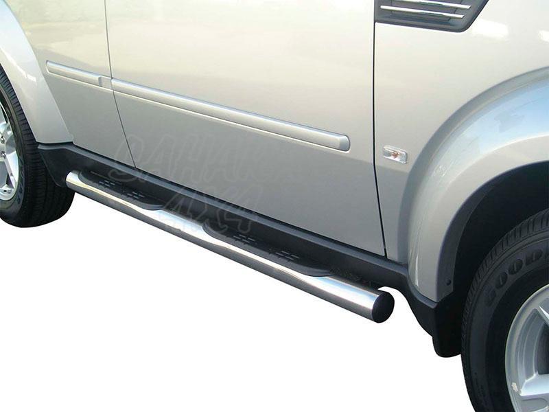 Pareja de estribos en tubo inox Ø76mm, con pisantes para Dodge Nitro 2007- -