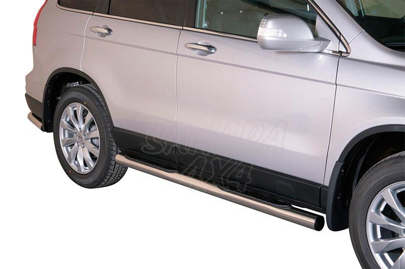 Estribos en tubo inox Ø76mm, con pisantes para Honda CR-V 2010-2012 -