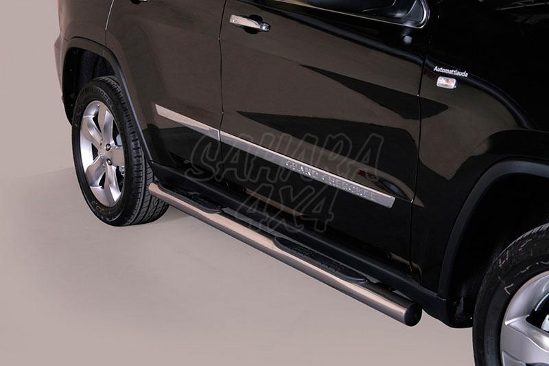 Estribos en tubo inox Ø76mm, con pisantes para Jeep Grand Cherokee 2010-2013 -