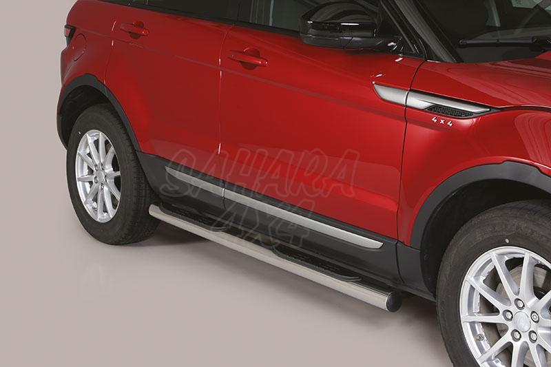 Pareja de estribos en tubo inox Ø76mm, con pisantes para Range Rover Evoque 2011- -