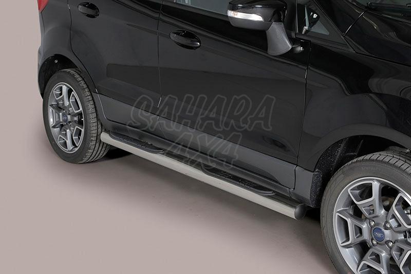 Pareja de estribos en tubo inox Ø76mm, con pisantes para Ford EcoSport 2014- -