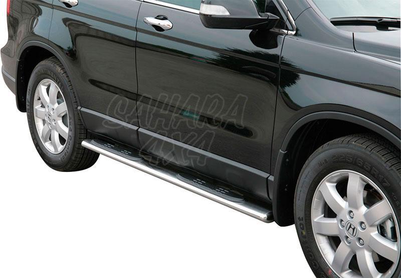 Estribos en tubo inox, sección oval, con pisantes  para Honda CR-V 2007-2010 -