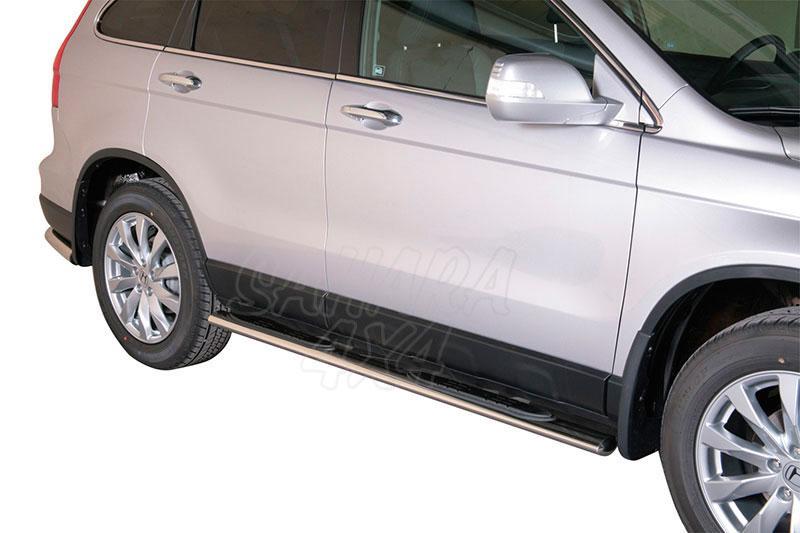 Estribos en tubo inox, sección oval, con pisantes  para Honda CR-V 2010-2012 -