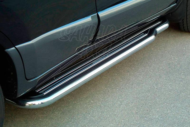 Estribos en plataforma con tubo inox Ø50mm para Hyundai Santa Fe 2001-2005 -