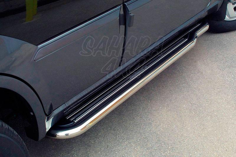 Estribos en plataforma con tubo inox Ø50mm para Hyundai Terracan 2001-2007 -