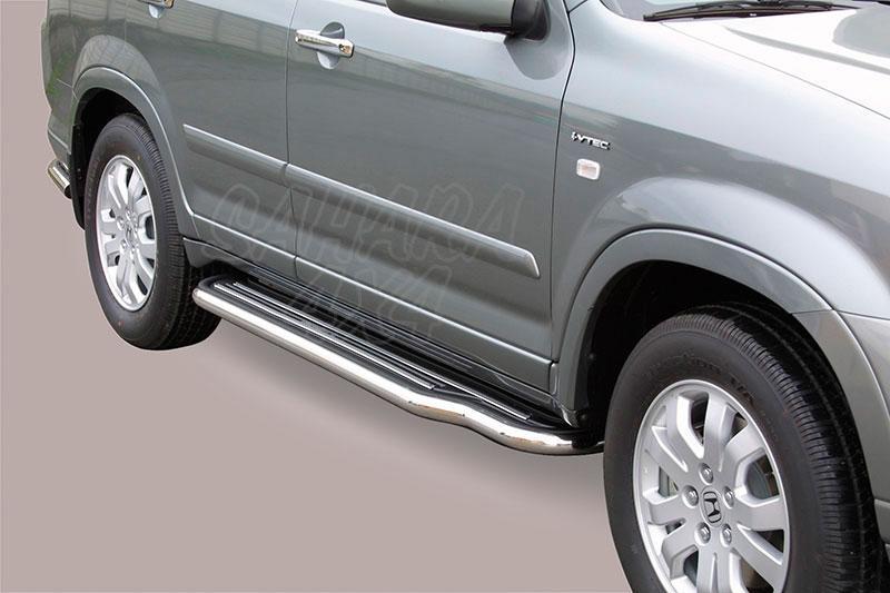 Estribos en plataforma con tubo inox Ø50mm para Honda CR-V 2005-2007 -