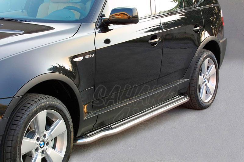 Estribos en plataforma con tubo inox Ø50mm para BMW X3 2003-2010  -
