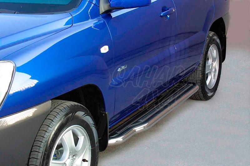 Estribos en plataforma con tubo inox Ø50mm para Kia Sportage 2004-2008 -