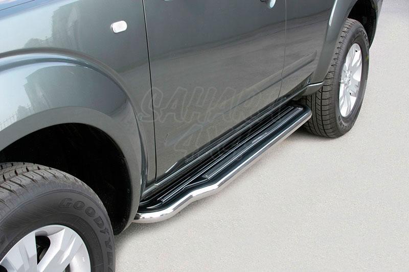 Estribos en plataforma con tubo inox Ø50mm para Nissan Pathfinder 2005-2010 -
