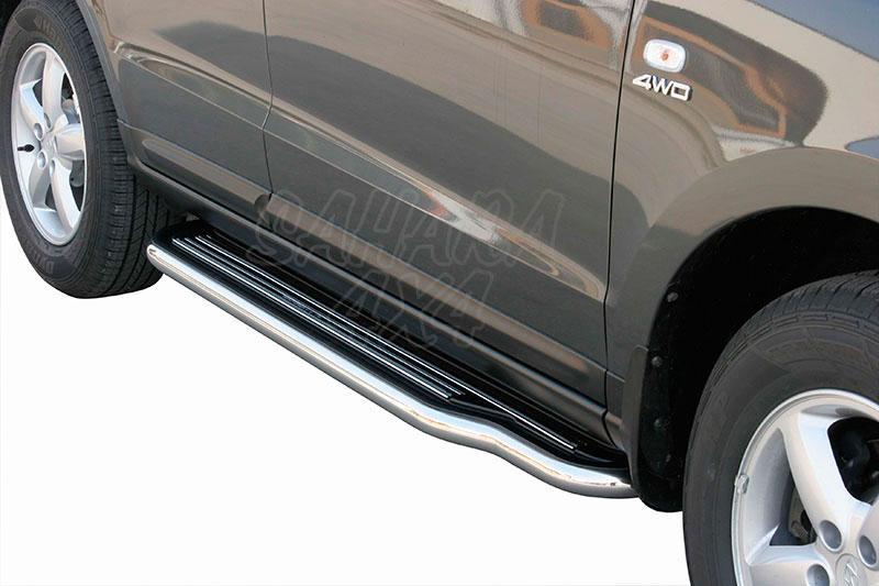 Estribos en plataforma con tubo inox Ø50mm para Hyundai Santa Fe 2006-2010 -