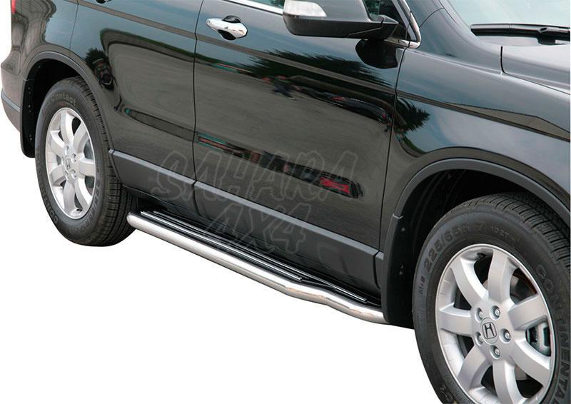 Estribos en plataforma con tubo inox Ø50mm para Honda CR-V 2007-2010 -