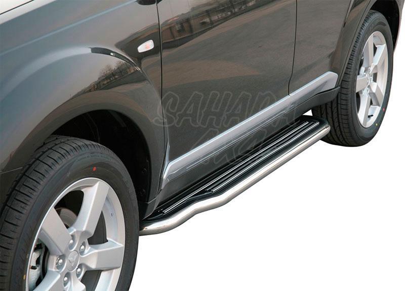 Estribos en plataforma con tubo inox Ø50mm para Mitsubishi Outlander 2007-2009 -