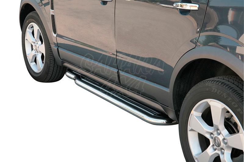 Estribos en plataforma con tubo inox Ø50mm para Opel Antara 2007-2011 -