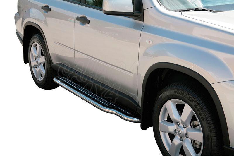 Estribos en plataforma con tubo inox Ø50mm para Nissan X-Trail 2007-2010 -