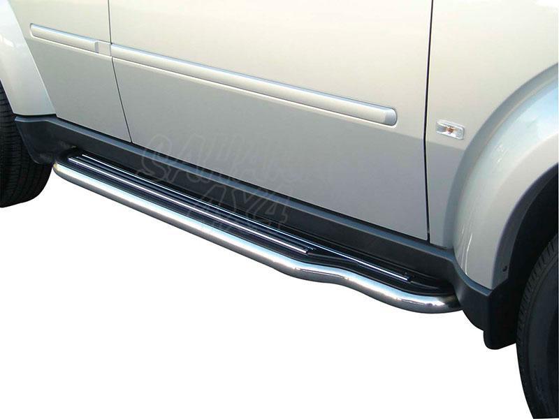 Estribos en plataforma con tubo inox Ø50mm para Dodge Nitro 2007- -