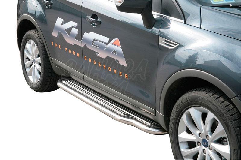 Estribos en plataforma con tubo inox Ø50mm para Ford Kuga 2008-2012 -