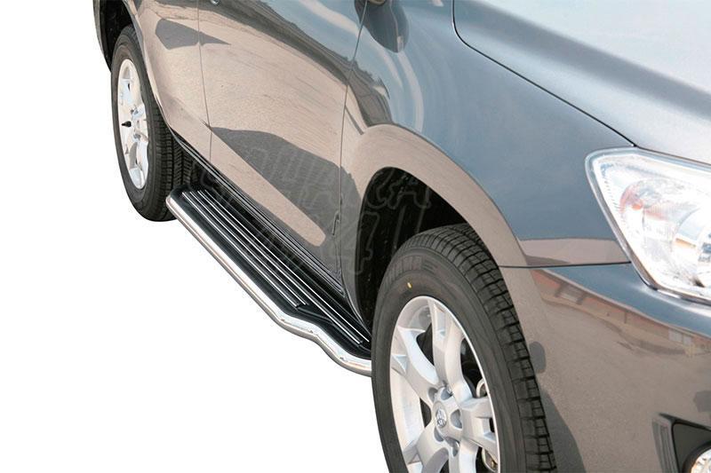 Estribos en plataforma con tubo inox Ø50mm para Toyota Rav4 2009-2010 -