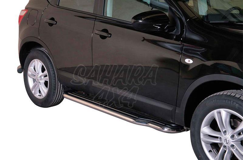 Estribos en plataforma con tubo inox Ø50mm para Nissan Qashqai +2 10-14 -