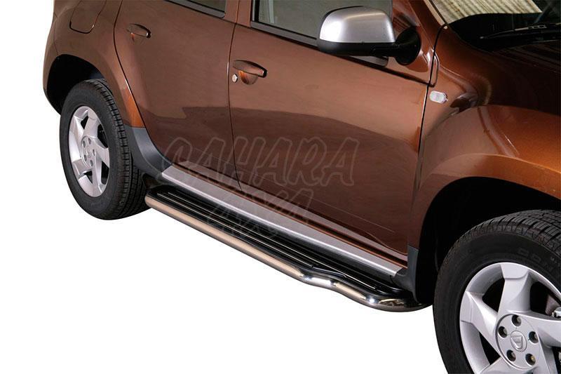 Estribos en plataforma con tubo inox Ø50mm para Dacia Duster 2010 -