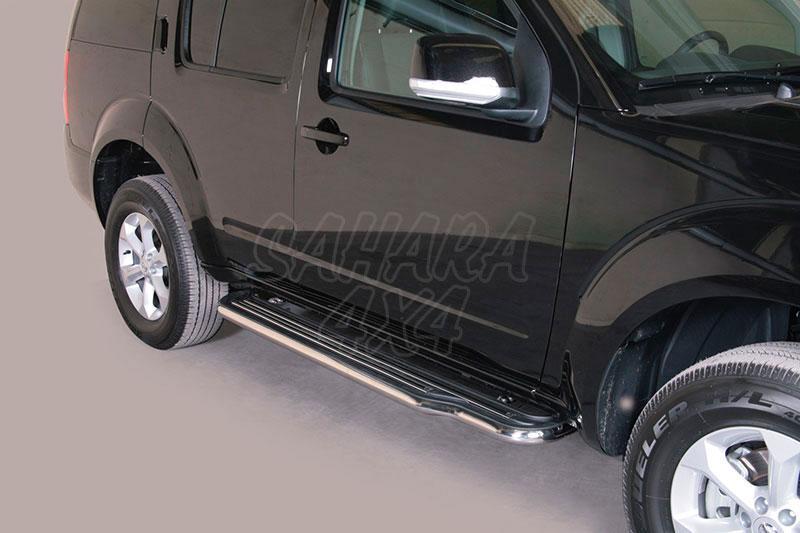 Estribos en plataforma con tubo inox Ø50mm para Nissan Pathfinder 2010- -