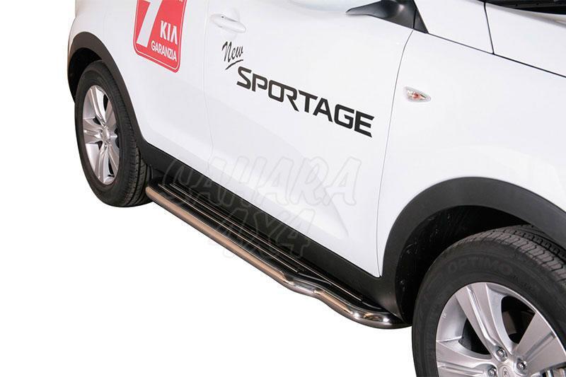 Estribos en plataforma con tubo inox Ø50mm para Kia Sportage 2010-2015 -
